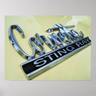 Corvette Sting Ray Poster