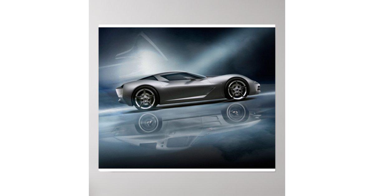 Corvette Stingray Concept Poster Zazzle