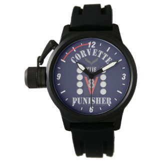 Corvette the Punisher Blue Face Watch