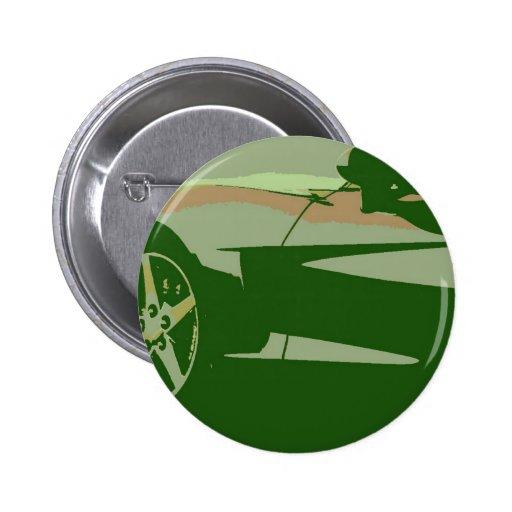 Corvette verde del camuflaje pin redondo 5 cm