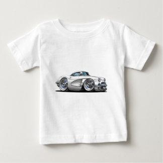 Corvette White Car Baby T-Shirt