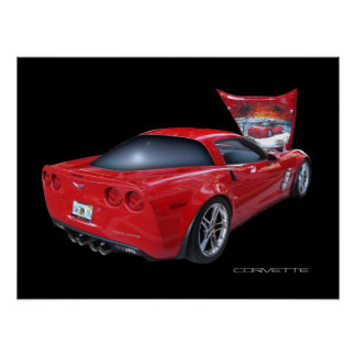 Corvette with Airbrush Print