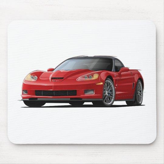 Corvette ZR1 Red Car Mouse Pad