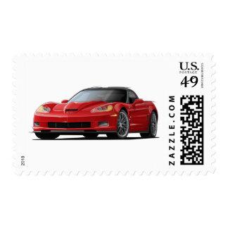 Corvette ZR1 Red Car Postage