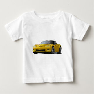 Corvette ZR1 Yellow Car Baby T-Shirt