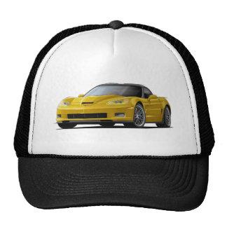 Corvette ZR1 Yellow Car Trucker Hat