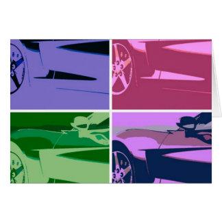 Corvettes del arte pop tarjeta de felicitación