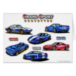 Corvettes magníficos del deporte 1963, 1996, 2010 tarjeta
