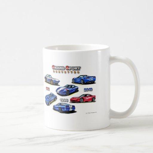 Corvettes magníficos del deporte 1963, 1996, 2010 tazas