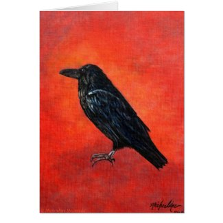 Corvus Corax Greeting Card