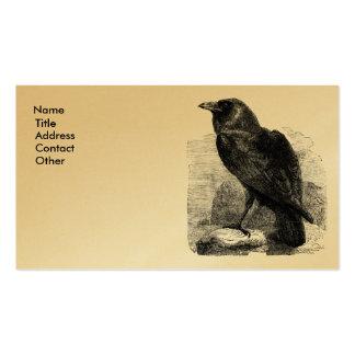 Corvus del cuervo tarjetas personales