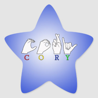 CORY ASL NAME FINGERSPELLED SIGN STICKERS