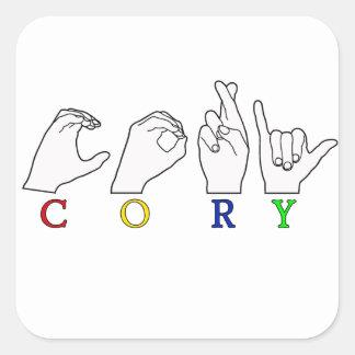 CORY ASL NAME FINGERSPELLED SIGN STICKER