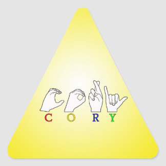 CORY ASL NAME FINGERSPELLED SIGN TRIANGLE STICKER