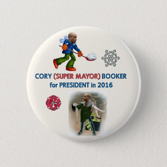 Cory Booker for President 2016 Button