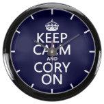Cory encendido reloj aqua clock