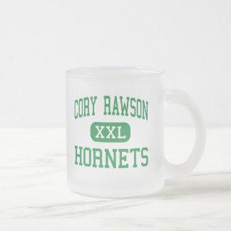 Cory Rawson - Hornets - High School - Rawson Ohio Frosted Glass Coffee Mug