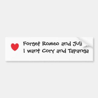 Cory y Topanga Pegatina Para Auto