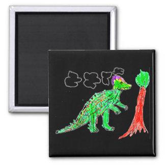 Corythosaurus Imán Cuadrado