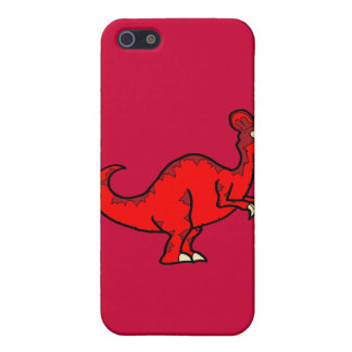 Corythosaurus rojo iPhone 5 funda