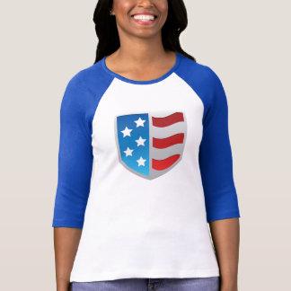 COS logo raglan shirt, women's T-shirts