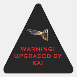 COS Warning label Triangle Sticker
