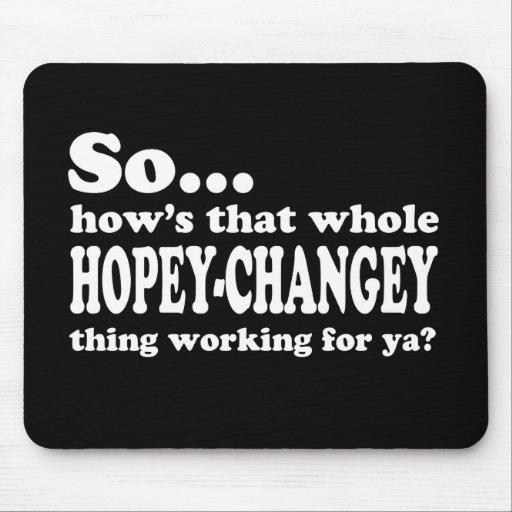 Cosa de Hopey-Changey Tapetes De Ratones