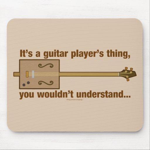 Cosa de la guitarra de la caja de cigarros alfombrillas de raton
