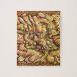 Cosa del arte abstracto del moreno puzzles