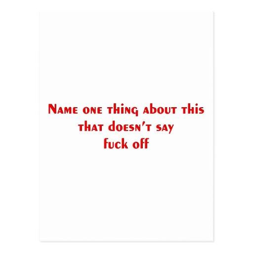 Cosa del nombre uno tarjetas postales