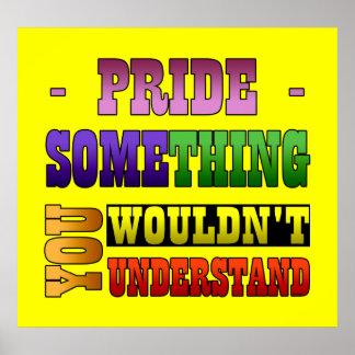 Cosa del orgullo poster