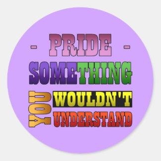Cosa del orgullo pegatina redonda