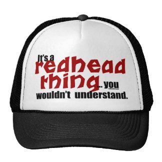 Cosa del Redhead Gorras