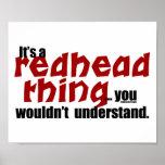 Cosa del Redhead Posters