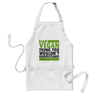 Cosa del vegano delantal