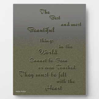 Cosa hermosa sentida con el corazón - Helen Keller Placa De Plastico