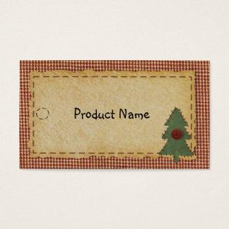 Cosa la etiqueta colgante del árbol de navidad tarjetas de visita