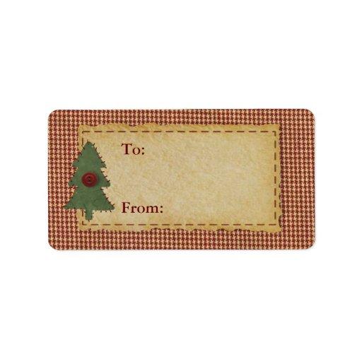 Cosa la etiqueta primitiva del regalo etiqueta de dirección
