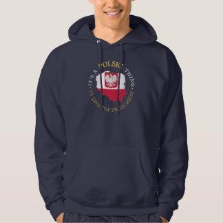 Cosa polaca pulóver con capucha