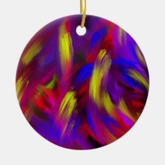Cosa salvaje adorno navideño redondo de cerámica