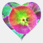 Cosa salvaje - colores de neón calcomanías de corazones