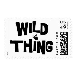 Cosa salvaje timbre postal