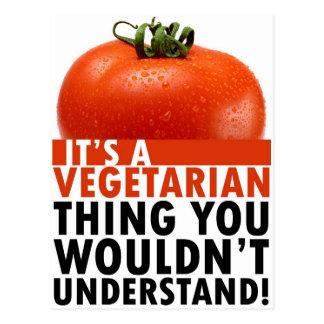 Cosa vegetariana tarjetas postales