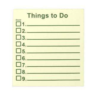 Cosas a hacer blocs