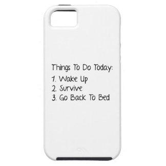 Cosas a hacer hoy iPhone 5 carcasas