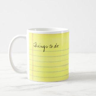 Cosas a hacer taza de café