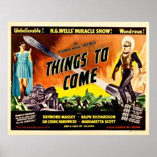 Cosas a venir - cartel de película 1936 del vintag póster