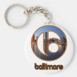 Cosas de Baltimore Llavero Redondo Tipo Pin