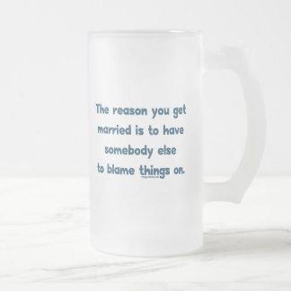 Cosas de la culpa encendido taza de café