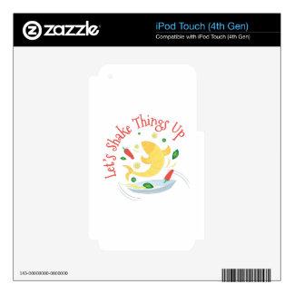 Cosas de la sacudida para arriba iPod touch 4G skins